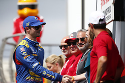 March 11, 2018 - St. Petersburg, Florida, United States of America - March 11, 2018 - St. Petersburg, Florida, USA: Alexander Rossi (27) gets introduced to the crowd for the Firestone Grand Prix of St. Petersburg at Streets of St. Petersburg in St. Petersburg, Florida. (Credit Image: © Justin R. Noe Asp Inc/ASP via ZUMA Wire)