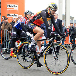 HOOGEVEEN cycling: The first manche of the UCI womens worldcup the Boels Rental ronde van Drenthe<br />Joliewn d'Hoore