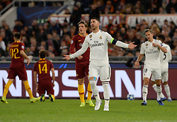 November 27, 2018 - Rome, Italy - Sergio Ramos during the UEFA Champions League match group G between AS Roma and Real Madrid FC at the Olympic stadium on november 27, 2018 in Rome, Italy. (Credit Image: © Silvia Lore/NurPhoto via ZUMA Press)