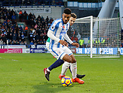 Huddersfield Town's Elias Kachunga during the Premier League match between Huddersfield Town and West Bromwich Albion at the John Smiths Stadium, Huddersfield, England on 4 November 2017. Photo by Paul Thompson.