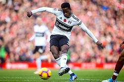 Ryan Sessegnon of Fulham shoots at goal - Mandatory by-line: Robbie Stephenson/JMP - 11/11/2018 - FOOTBALL - Anfield - Liverpool, England - Liverpool v Fulham - Premier League