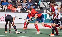 AMSTELVEEN -  Sjuul Pubben (Tilburg) tijdens de hockey hoofdklasse competitiewedstrijd  heren, Amsterdam-HC Tilburg (3-0).  COPYRIGHT KOEN SUYK