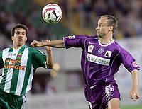 ◊Copyright:<br />GEPA pictures<br />◊Photographer:<br />Thomas Karner<br />◊Name:<br />Rushfeldt<br />◊Rubric:<br />Sport<br />◊Type:<br />Fussball<br />◊Event:<br />Stiegl Cup Finale, SK Rapid Wien vs Austria Magna Wien<br />◊Site:<br />Wien, Austria<br />◊Date:<br />01/06/05<br />◊Description:<br />Gyuri Garics (Rapid), Sigurd Rushfeldt (A.Wien)<br />◊Archive:<br />DCSTK-0106054008<br />◊RegDate:<br />01.06.2005<br />◊Note:<br />TM/TM - Nutzungshinweis: Es gelten unsere Allgemeinen Geschaeftsbedingungen (AGB) bzw. Sondervereinbarungen in schriftlicher Form. Die AGB finden Sie auf www.GEPA-pictures.com.<br />Use of picture only according to written agreements or to our business terms as shown on our website www.GEPA-pictures.com