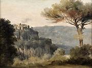Village de Nemi': Pierre de Valenciennes (1750-1819) French painter.