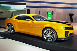 11 February 2009:  2010 CHEVROLET CAMARO: Chevrolet will display the production 2010 Camaro during the 101st annual Chicago Auto Show, with sales beginning in the first quarter of '09. The new Camaro is a heritage-inspired sports car for the 21st century, combining great looks and performance; advanced technology and surprising efficiency Ð including 26-mpg estimated highway fuel economy. Built on GMÕs new, global rear-wheel-drive architecture, the Camaro is offered in the 3.6-liter V-6-powered LS and LT models, as well as the 6.2-liter V-8-powered SS. All models and powertrain combinations include fuel-saving six-speed automatic or six-speed manual transmissions. Camaro offers two suspensions. LS and LT models receive an FE2 (sport) suspension, while the SS receives the FE3 (performance) suspension, including a lower ride height..The Chicago Auto Show is a charity event of the Chicago Automobile Trade Association (CATA) and is held annually at McCormick Place in Chicago Illinois.