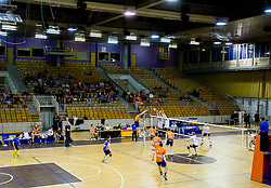 Arena during volleyball match between ACH Volley and OK Calcit Volleyball in 10th Round of Slovenian National Championship 2014/15, on March 11, 2015 in Arena Tivoli, Ljubljana, Slovenia. Photo by Vid Ponikvar / Sportida