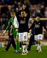 Photo: Jed Wee/Sportsbeat Images.<br /> Sunderland v Manchester United. The FA Barclays Premiership. 26/12/2007.<br /> <br /> Manchester United's Wayne Rooney applauds the fans.