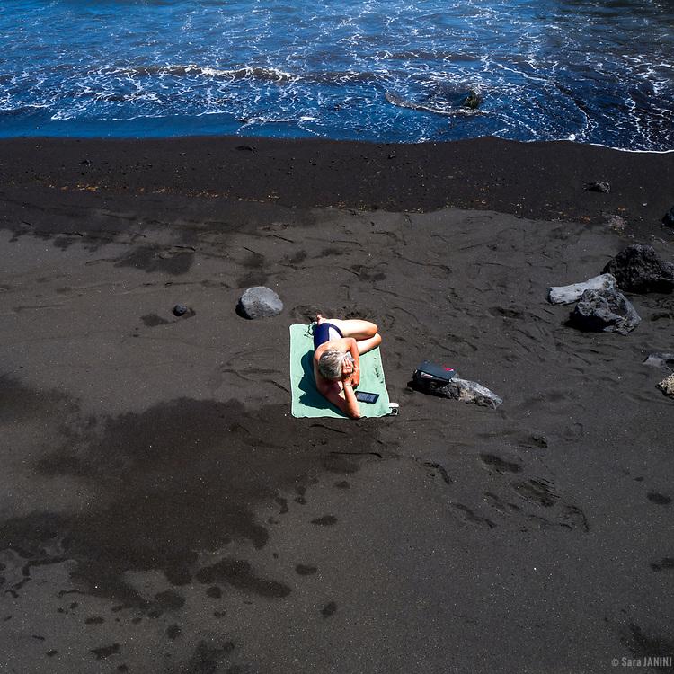 Playa de Puerto Espíndola, La Palma, Canarias, España, Europa