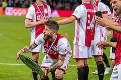 15-05-2019 NED: De Graafschap - Ajax, Doetinchem<br /> Round 34 / It wasn't really exciting anymore, but after the match against De Graafschap (1-4) it is official: Ajax is champion of the Netherlands / Lasse Schone #20 of Ajax