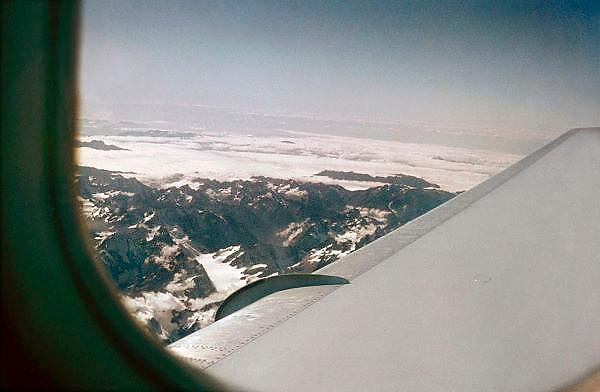 Zwitserland, Alpen, 5-7-2008Luchtfoto vanuit het vliegtuig van de Alpen.Foto: Flip Franssen