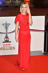 © Licensed to London News Pictures. 14/12/2016. KATIE PIPER attends The Sun newspaper Millies Military Awards 2016 at Guildhall <br /> London, UK. Photo credit: Ray Tang/LNP