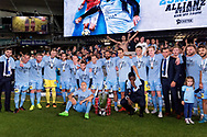SYDNEY, NSW- NOVEMBER 21: Sydney FC celebrate with the FFA Cup at the FFA Cup Final Soccer between Sydney FC and Adelaide United on November 21, 2017 at Allianz Stadium, Sydney. (Photo by Steven Markham/Icon Sportswire)