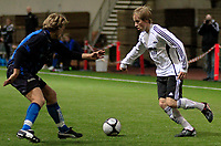 Fotball <br /> Color line cup<br /> 25.01.2010<br /> Rosenborg bk Juniour - Stabæk Junior 4-1<br /> Sunnmørshallen <br /> <br /> Mats larsen - rosenborg bk Junior<br /> Helge leikvang - stabæk junior <br /> Foto:Richard brevik Digitalsport