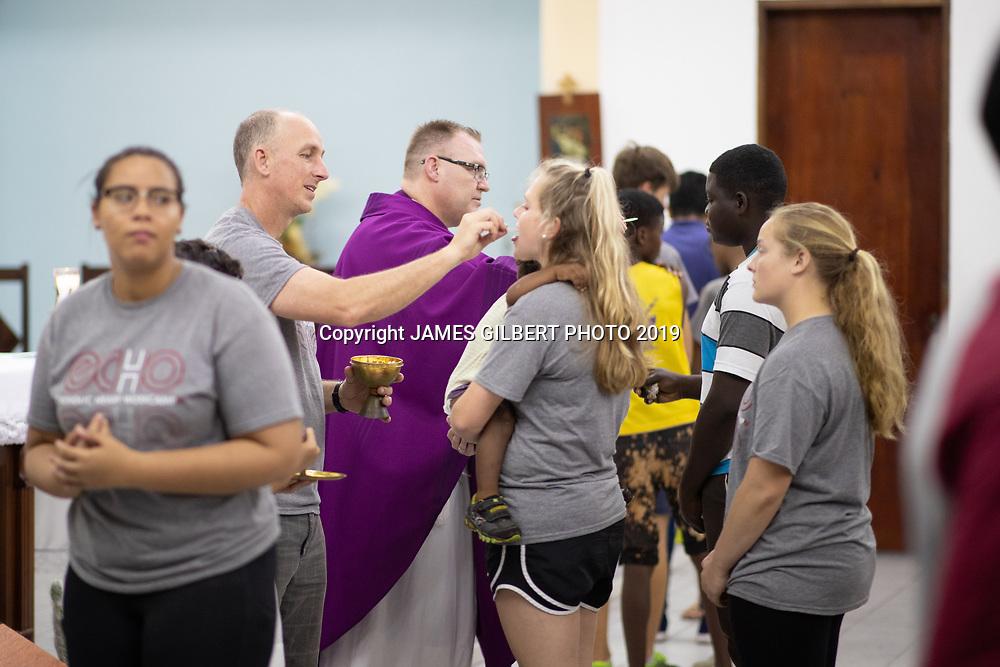 Bryan Ott<br /> Sarah Raynor <br /> <br /> St Joe mission trip to Belize 2019. JAMES GILBERT PHOTO 2019