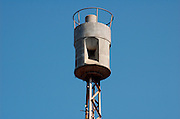 """Air raid siren in the centre of Tel Aviv, Israel originally produced in germanyby """"H?rmann GmbH M?nchen"""" between 1968 and 1975,"""