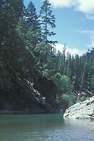 People enjoying the Eel river of Northern California