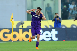 April 29, 2018 - Florence, Italy - Giovanni Simeone of Fiorentina celebrates after the goal of 3-0 scored at Artemio Franchi Stadium in Florence, Italy on April 29, 2018, during Serie A match between ACF Fiorentina v SSC Napoli. (Credit Image: © Matteo Ciambelli/NurPhoto via ZUMA Press)