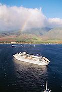 Cruise ship off Lahaina, Maui, Hawaii