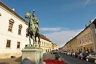 Andras Hadik Statue - Castle district Budapest - Hungary