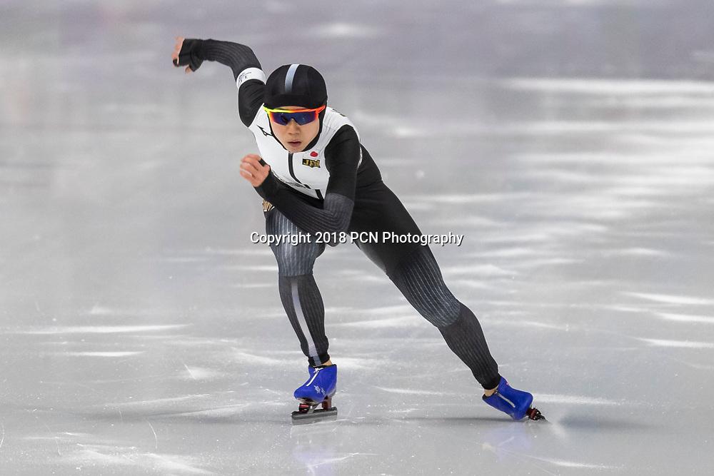 Miho Takagi (JPN) wins the bronze medal in Speed Skating Ladies 1000m at the Olympic Winter Games PyeongChang 2018