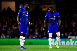 Antonio Rudiger of Chelsea and Kurt Zouma of Chelsea - Mandatory by-line: Ryan Hiscott/JMP - 10/12/2019 - FOOTBALL - Stamford Bridge - London, England - Chelsea v Lille - UEFA Champions League group stage