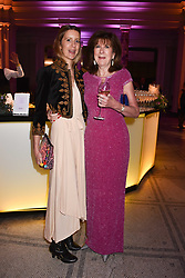Lady Xouchi Balfour and her mother the Countess Balfour at The Sugarplum Dinner 2017 to benefit the type 1 diabetes charity JDRF held at the Victoria & Albert Museum, Cromwell Road, London England. 14 November 2017.<br /> Photo by Dominic O'Neill/SilverHub 0203 174 1069 sales@silverhubmedia.com