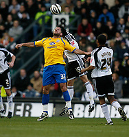 Photo: Steve Bond/Richard Lane Photography. Derby County v Crystal Palace. Coca Cola Championship. 06/12/2008. James Tomkins (back) and Shefki Kuqi (front) clash in the air