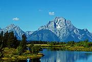 Grand Tetons, Snake River & Canada Geese - Wyoming