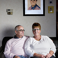 Nederland, Maassluis , 18 november 2014.<br /> Familie Vroombout overleefde vliegtuigcrash in Faro Portugal in 1993.<br /> Hun dochter niet.<br /> Foto:Jean-Pierre Jans