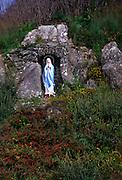 Roadside madonna statue Virgin Mary,  near Castletownbere, County Cork, Ireland