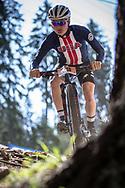 Sandy Floren (USA) at the 2018 UCI MTB World Championships - Lenzerheide, Switzerland