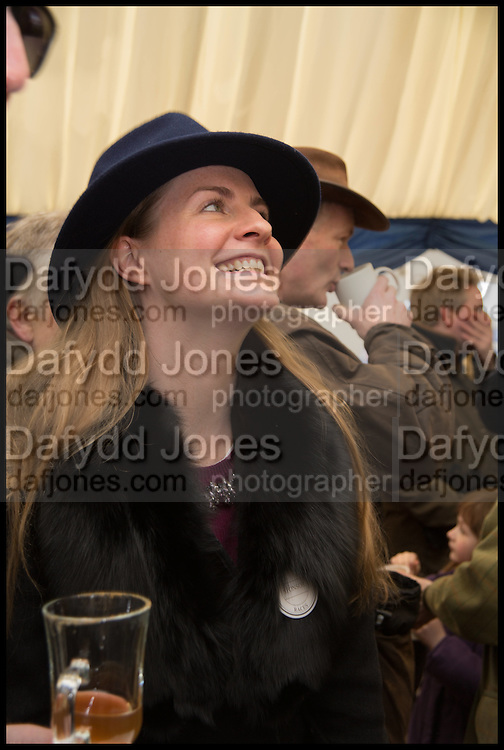 CHLOE DELEVIGNE, The Heythrop Hunt Point to Point. Cockle barrow. 25 January 2015