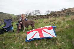 Spectators wait for the peloton during the Tour de Yorkshire - a 122.5 km road race, between Tadcaster and Harrogate on April 29, 2017, in Yorkshire, United Kingdom.