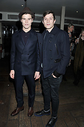 Left to right, OLIVER CHESHIRE and WILL BEST at the InStyle Best of British Talent Event in association with Lancôme and Avenue 32 held at The Rooftop Restaurant, Shoreditch House, Ebor Street, London E1 on 30th January 2013.