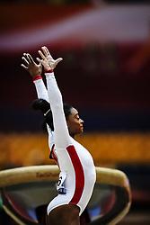 November 2, 2018 - Doha, Qatar - Simone Biles of United States   during  Vault for Women at the Aspire Dome in Doha, Qatar, Artistic FIG Gymnastics World Championships on 2 of November 2018. (Credit Image: © Ulrik Pedersen/NurPhoto via ZUMA Press)