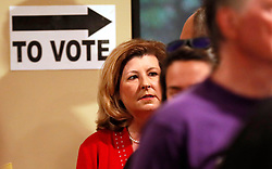 6th district congressional incumbent Karen Handel waits in line to vote at the St Mary's Orthodox Church in Roswell.Photo by Bob Andres/Atlanta Journal-Constitution/TNS/ABACAPRESS.COM