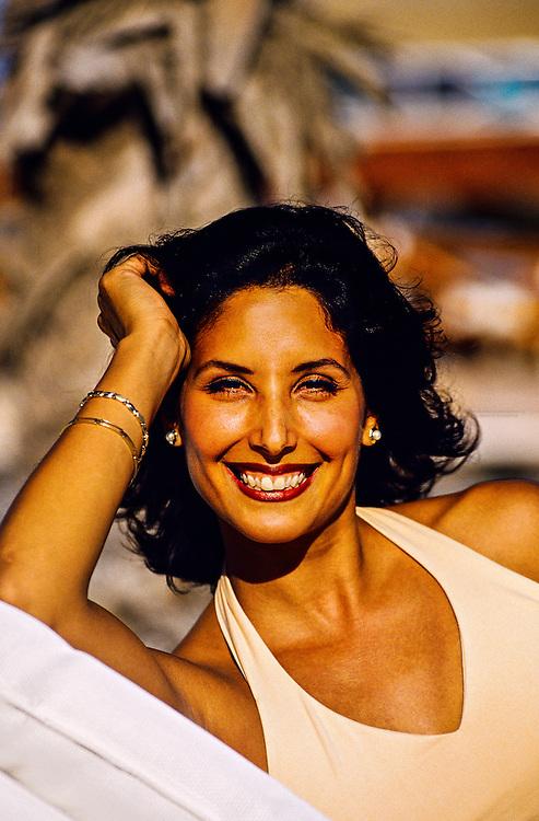 Mexican woman, Hotel Hacienda del Mar, Los Cabos, Baja California, Mexico