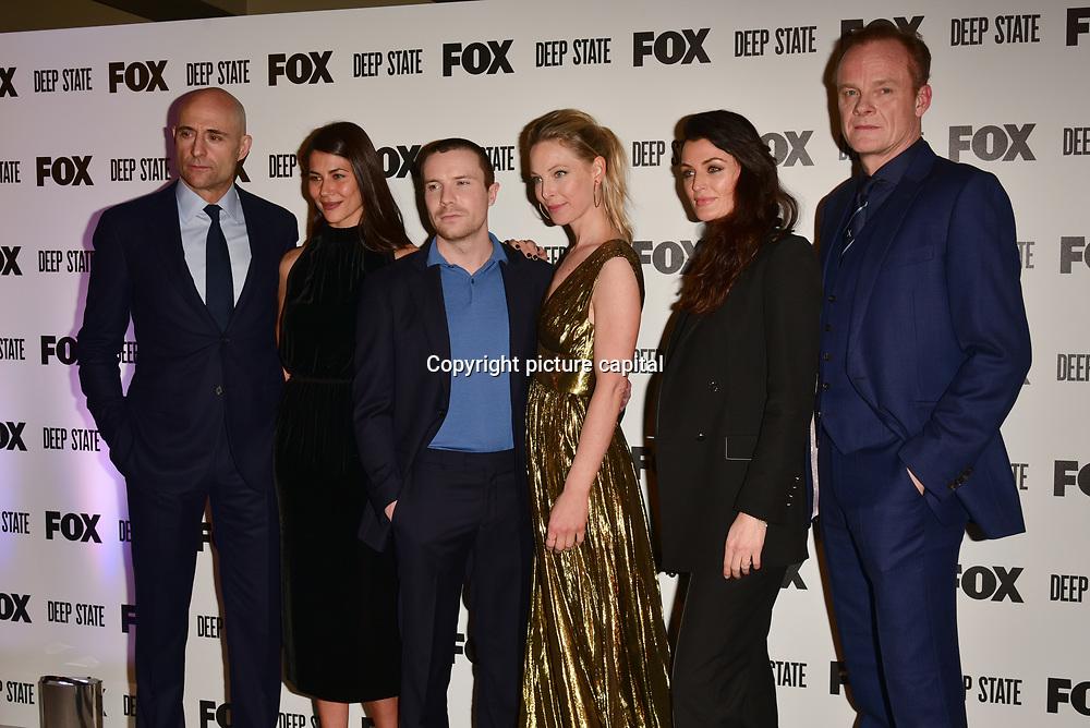 Mark Strong, Karima McAdams, Joe Dempsie, Anastasia Griffith, Lyne Renee, Alistair Petrie Attend the European Premiere Deep State at Curzon Soho on 15 March 2018, London, UK.