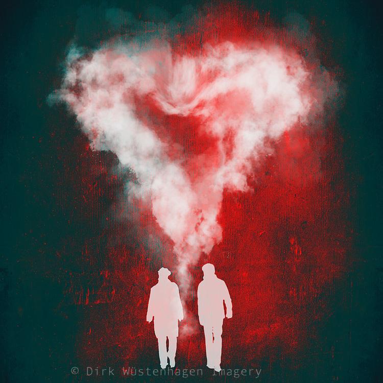 heartof smoke  over people
