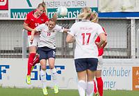 Fotball<br /> EM-kvalifisering kvinner<br /> Østerrike v Norge<br /> Foto: Gepa/Digitalsport<br /> NORWAY ONLY<br /> <br /> STEYR,AUSTRIA,10.APR.16 - IWOMEN SOCCER - UEFA Women s European championship, qualification, OEFB international match, Austria vs Norway. Image shows Virginia Kirchberger (AUT) and Kristine Minde (NOR).