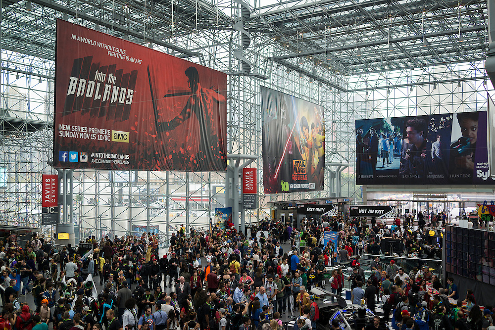 Comic Con at the Javits Center in New York, NY, on Friday, Oct. 9, 2015. <br /> <br /> Photograph by Andrew Hinderaker