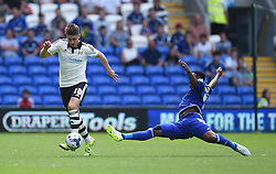 Kagisho Dikgacoi of Cardiff City attempts to intercept Tom Cairney of Fulham - Mandatory by-line: Paul Knight/JMP - Mobile: 07966 386802 - 08/08/2015 -  FOOTBALL - Cardiff City Stadium - Cardiff, Wales -  Cardiff City v Fulham - Sky Bet Championship