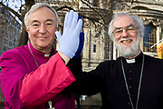 Archbishop of Westminster Vincent Nichols  and Archbishop of Canterbury  Rowan Williams come together in solidarity against climate change. The religious leaders led an ecumenical service on Saturday December 5, before the Wave march through London. The service was organised by CAFOD and others.<br />  Media contact Pascale Palmer ppalmer@cafod.org.uk 07785 950 585