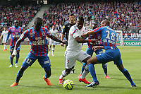 Henri BEDIMO / Dennis APPIAH / Jordan ADEOTTI - 09.05.2015 -  Caen / Lyon  - 36eme journee de Ligue 1<br />