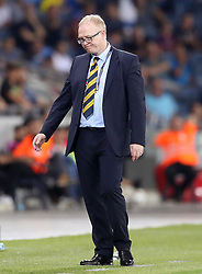 Scotland manager Alex McLeish appears dejected on the touchline during the UEFA Nations League Group C1 match at the Sammy Ofer Stadium, Haifa.