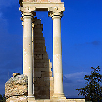 Europe, Mediterranean, Cyprus, Limassol, Kourion. The Sacred Temple of Apollo Hylates.