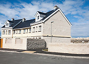 New houses made from local Portland stone, Isle of Portland, Dorset, England, UK