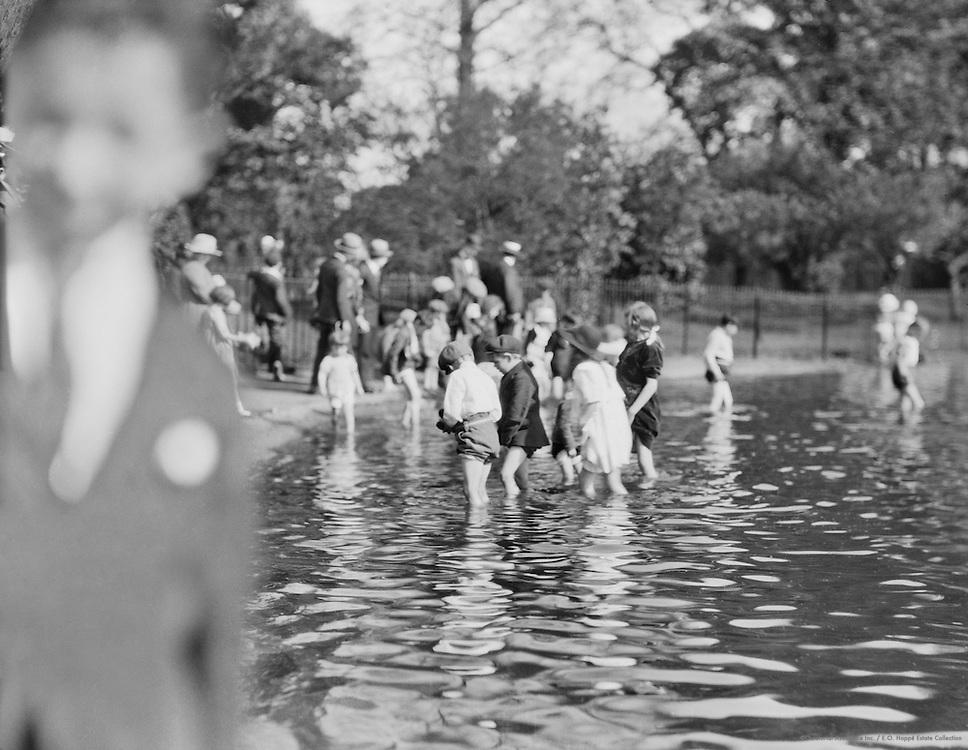 Children Bathing at the Serpentine, London, c.1910