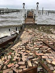 October 7, 2016 - Florida, U.S. - Damaged docks along MacArthur Boulevard from hurricane Matthew on Hutchinson Island on October 6, 2016. (Credit Image: © Richard Graulich/The Palm Beach Post via ZUMA Wire)