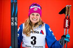 January 1, 2018 - Lenzerheide, Switzerland - Jessica Diggins of the United States celebrates after women's 10km pursuit free technique during Tour de Ski. (Credit Image: © Jon Olav Nesvold/Bildbyran via ZUMA Wire)